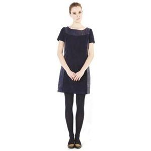 comptoir des cotonniers nannay black navy dress